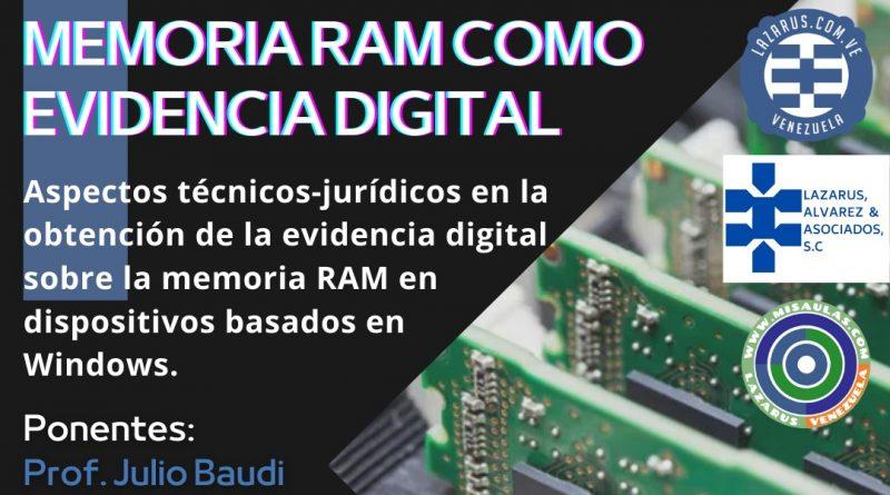 Curso para Abogados. RAM como evidencia digital